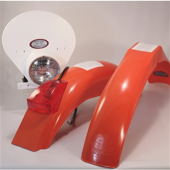IB Muder IT Rear fenders Dark Orange White  HLNP