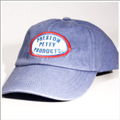 Preston Petty embroidered baseball hat denim
