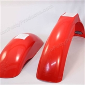 Red - MX front and MX rear fender set