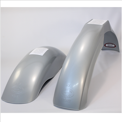 Silver MX front and MX rear fender set