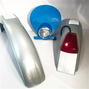 IB Muder IT Rear fenders Silver   Blue HLNP