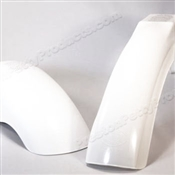 MX Front and Rear Fender Set - White