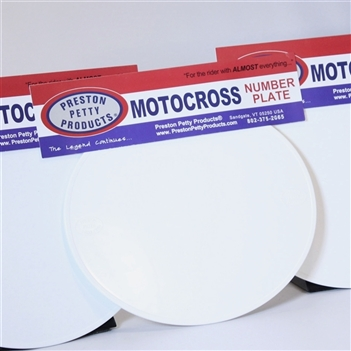 White oval number plates set of 3