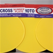 Yellow oval number plates set of 3