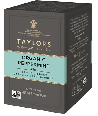 Taylors of Harrogate Organic Peppermint - 50 Tea Bags