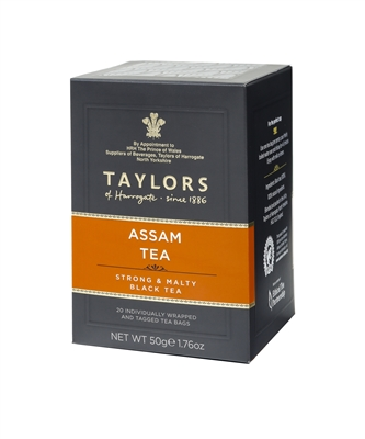 Taylors of Harrogate Assam Tea - 20 Wrapped Tea Bags