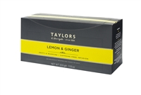 Taylors of Harrogate Lemon & Ginger - 100  Wrapped Tea Bags