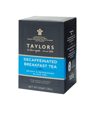 Taylors of Harrogate Decaffeinated Breakfast - 20  Wrapped Tea Bags