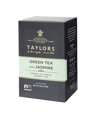 Taylors of Harrogate Green Tea with Jasmine - 50 Tea Bags