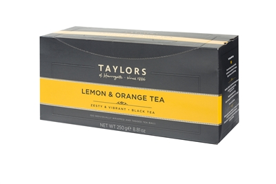 Taylors of Harrogate Lemon & Orange  - 100 Tea Bags | Brands of Britain