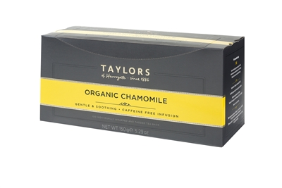 Taylors of Harrogate Organic Chamomile  - 100 Wrapped Tea Bags