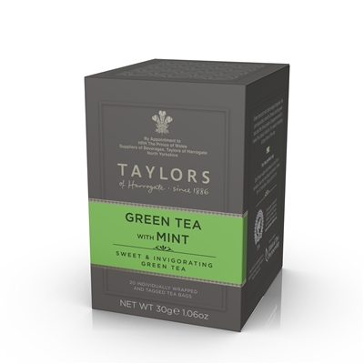 Taylors Green Tea & Mint 6x20