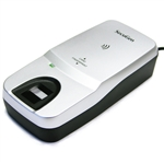 The SecuGen Hamster Pro Duo CL fingerprint sensor with smart card reader.