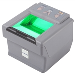 The ten print fingerprint scanner DactyScan84c can capture flat, single roller fingerprints and more.