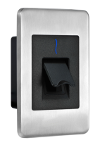 When users place their finger on the FR1500-ID SilkID fingerprint sensor, their fingerprint template is then transferred to the InBio panel via RS485 where it is matched and compared to an access control list on the InBio panel.