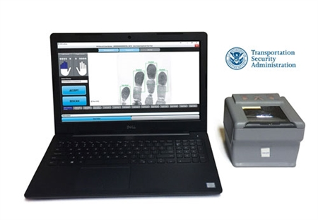 The live scan process involving airport and airline employees is easy with the FbF LiveScan TSC Applicant System.