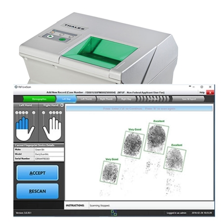 FbF LiveScan Bundle with MultiScan527g Tenprint and Palm Scanner