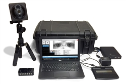 The FbF bioEnroll Standard Portable Collection Kit includes hardware (IB Columbo fingerprint scanner, laptop, etc.) and software is used for biometric enrollment and verification.