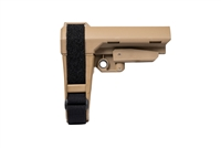 SB TACTICAL SBA3 PISTOL STABILIZING BRACE MIL SPEC BUFFER - TAN
