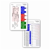 ECG Ruler & Diagram Vertical Badge Card