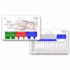 ECG Ruler & Diagram Horizontal Badge Card