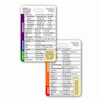 Lab Values Vertical Badge Card