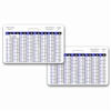 Weight Conversion Adult Range Horizontal Badge Card