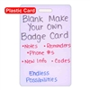 Blank Plastic Make Your Own Vertical Badge Card