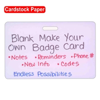 Blank Cardstock Make Your Own Horizontal Badge Card 20pk