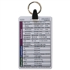 General/Med Surg 5 Card Badge Card Keychain Set