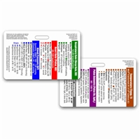 Adult Vital Signs Horizontal Badge Card
