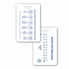 Wong-Baker FACES® Pain Rating Scale Vertical w/ Numeric Rating Scale Badge Card