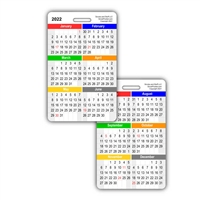 2021 Month by Month Calendar Vertical Badge Card