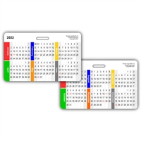 2018 Month by Month Calendar Horizontal Badge Card