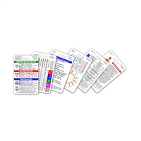 Mini EMT / First Responder Set Vertical Badge Cards - 6 cards