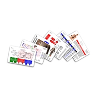 Mini Paramedic Set Horizontal Badge Cards - 6 cards