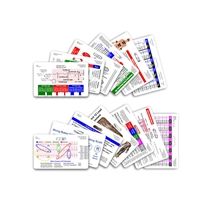 Complete Set for EMS Paramedic EMT Horizontal Badge Cards - 13 cards