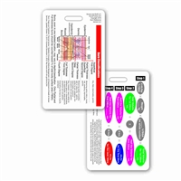 Burn Classifications and Parkland Formula Vertical Badge Card