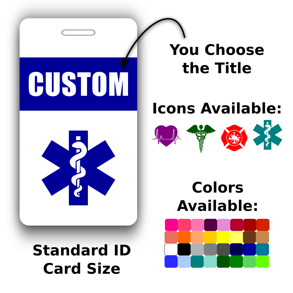 custom vertical id card