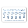 "Wong-Baker FACES® Pain Rating Scale 3"" by 5"" Pocket Card"