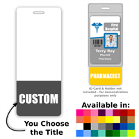 Custom Vertical Oversized Badge Buddy - One Line