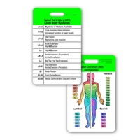 SCI Dermatomes & L1-S5 Myotomes Vertical Badge Card