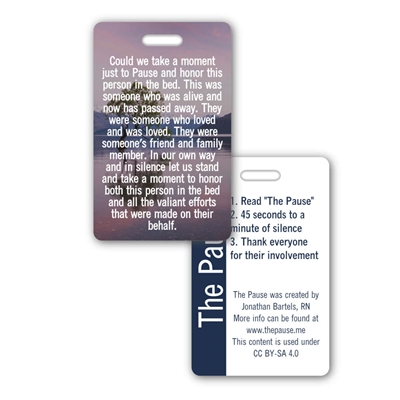 The Pause Vertical Badge Card - Institutional Purchases