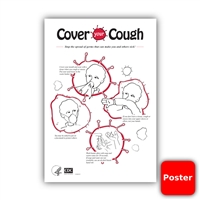 "Cover Your Cough CDC 12""x18"" Poster (Yes Free!)"