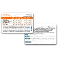 Ventilator Management Horizontal Badge Card (Yes Free!) - Laminated