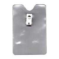 Heavy Duty Vertical Clip On Badge Holder