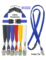 Standard Breakaway Lanyard with Badge Clip