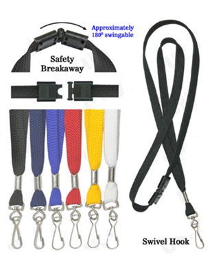 Standard Breakaway Lanyard with Swivel Hook