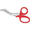 "7 3/8"" Heavy Duty Red Trauma EMT Shears / Scissors by Clauss"