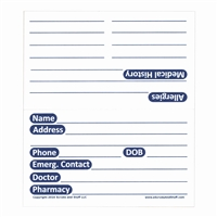 Patient Medication and History Card (Pack of 25)